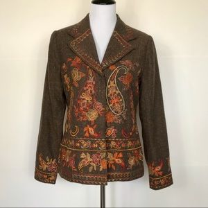 Coldwater Creek Embroidered Jacket/Blazer S